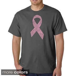 Los Angeles Pop Art Men's 'Cancer Ribbon' T-shirt