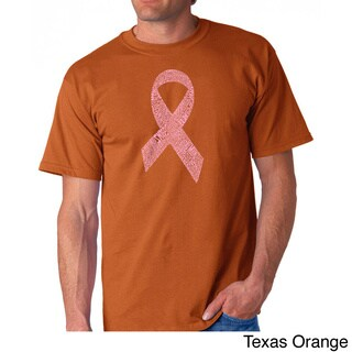 Los Angeles Pop Art Men's 'Cancer Ribbon' T-shirt