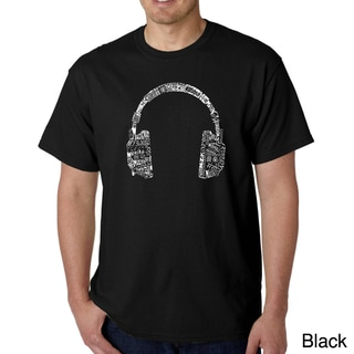 Link to Los Angeles Pop Art Men's 'Music Language Headphones' T-shirt Similar Items in Shirts