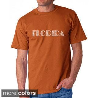 Los Angeles Pop Art Men's 'Florida Cities' T-shirt