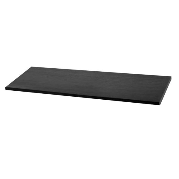 Organized Living freedomRail 48x12-inch Midnight Live Wood Shelf