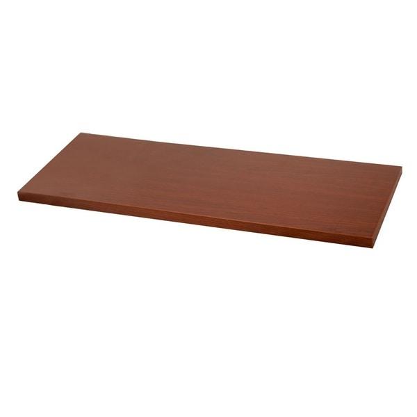 Organized Living freedomRail Modern Cherry 48x8-inch Wood Shelf