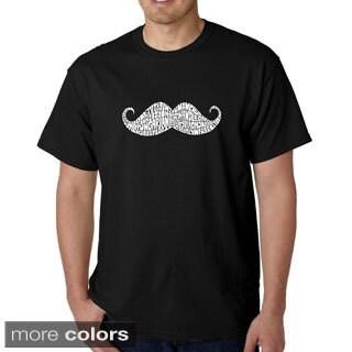 Los Angeles Pop Art Men's 'Moustache' T-shirt