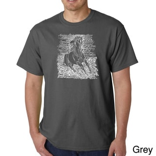 Los Angeles Pop Art Men's 'Horse Breeds' T-shirt
