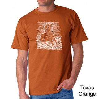 Los Angeles Pop Art Men's 'Horse Breeds' T-shirt