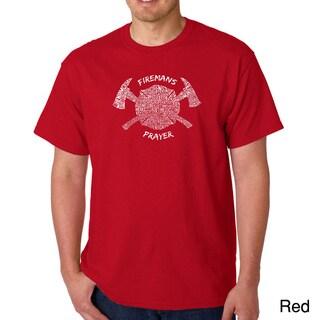 Los Angeles Pop Art Men's 'Fireman's Prayer' T-shirt (More options available)