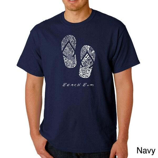 Los Angeles Pop Art Mens Flip Flop Beach Bum T-shirt