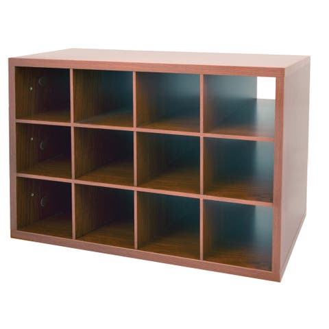 Organized Living freedomRail Modern Cherry O-Box Shoe Cubby