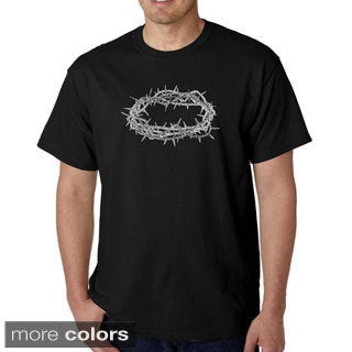 Los Angeles Pop Art Men's 'Jesus Crown of Thorns' T-shirt