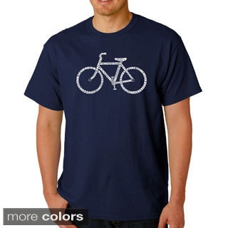 Los Angeles Pop Art Men's 'Save a Planet Bike' T-shirt
