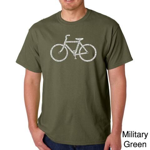 Los Angeles Pop Art Men's 'Save a Planet Bike' T-shirt