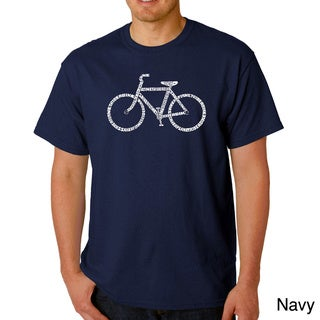 Link to Los Angeles Pop Art Men's 'Save a Planet Bike' T-shirt Similar Items in Shirts