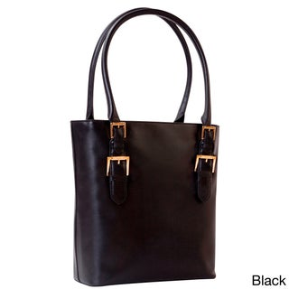 Isaac Mizrahi Emily Removable Camera and Tech Compartment Genuine Leather Tote Bag (2 options available)
