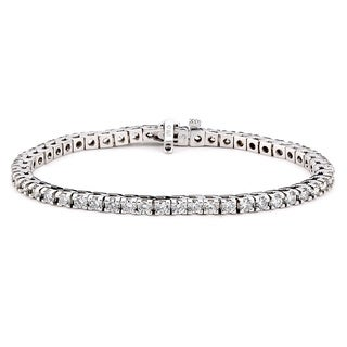 Diamonds For A Cure 14k White Gold 5ct TDW Tennis Bracelet (G-H, SI1-SI2)