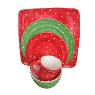 Pallini Polka Dot 5-piece Dinnerware Set (Italy)