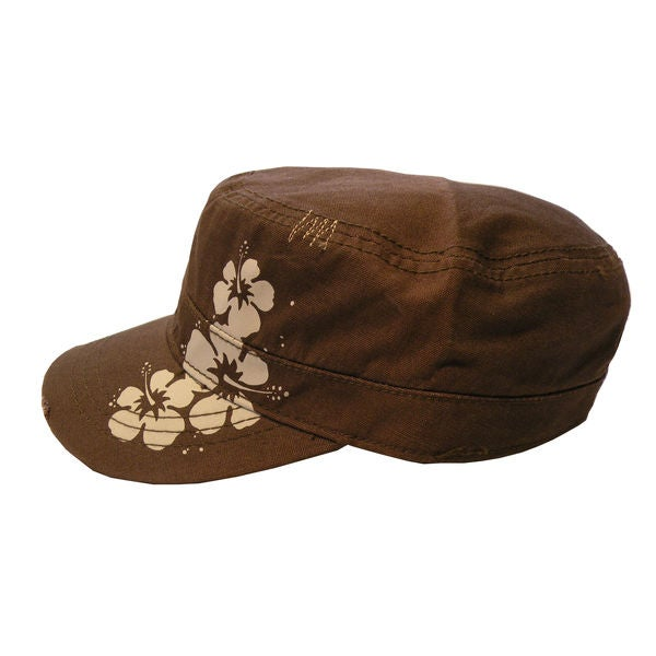 Pug Gear Women's Brown Floral Cadet Hat
