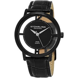 Stuhrling Original Men's Cathedral Watch Set Swiss Quartz Interchangeable Strap Watch
