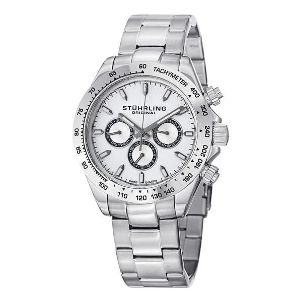 Stuhrling Original Men's Raceway Swiss Quartz Bracelet Watch. Opens flyout.