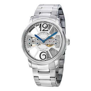 Stuhrling Original Men's Winchester County Elite Mechanical Stainless Steel Bracelet Watch