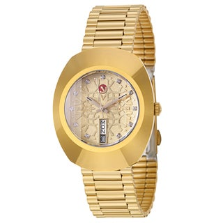 Rado Men's 'Original' Yellow Goldplated Hardmetal Swiss Mechanical Automatic Watch