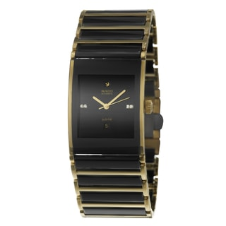 Rado Men's 'Integral Automatic Jubile' Yellow Gold Stainless Steel Swiss Mechanical Automatic Watch