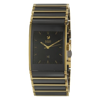 Rado Men's 'Integral' Yellow Gold PVD Coated Stainless Steel Swiss Mechanical Automatic Watch
