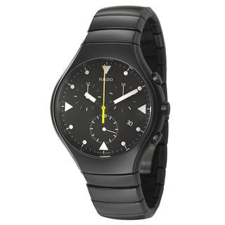 Rado Men's 'Rado True' Black Ceramic Chronograph Watch