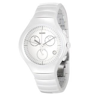 Rado Men's 'Rado True' White Ceramic Chronograph Watch