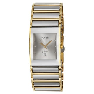 Rado Men's 'Integral Jubile' Yellow Gold PVD-coated Stainless Steel Swiss Quartz Watch