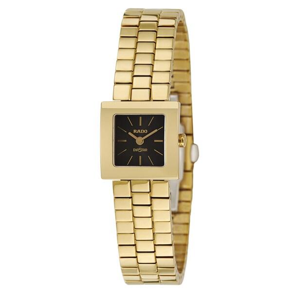 Rado Women's 'Diastar' Yellow Gold PVD-coated Swiss Quartz Watch