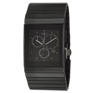 Rado Men's 'Ceramica Chronograph' Black Ceramic Chronograph Watch