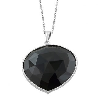 Fremada Sterling Silver Black Onyx Necklace (18 inch)