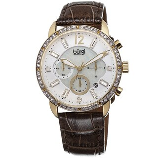 Burgi Women's Crystal Dial Chronograph Leather Brown Strap Watch with FREE GIFT|https://ak1.ostkcdn.com/images/products/8786745/Burgi-Womens-Crystal-Dial-Chronograph-Genuine-Leather-Strap-Watch-P16025063.jpg?_ostk_perf_=percv&impolicy=medium