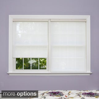 Aurora Home Premium White Linen Look Window Shade