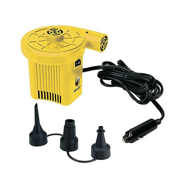 Sevylor 12-volt Yellow/ Black Air Pump (12V Air Pump)