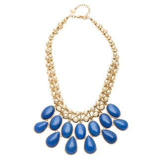 Carolee In The Natural Blue Jade Bib Fashion Necklace
