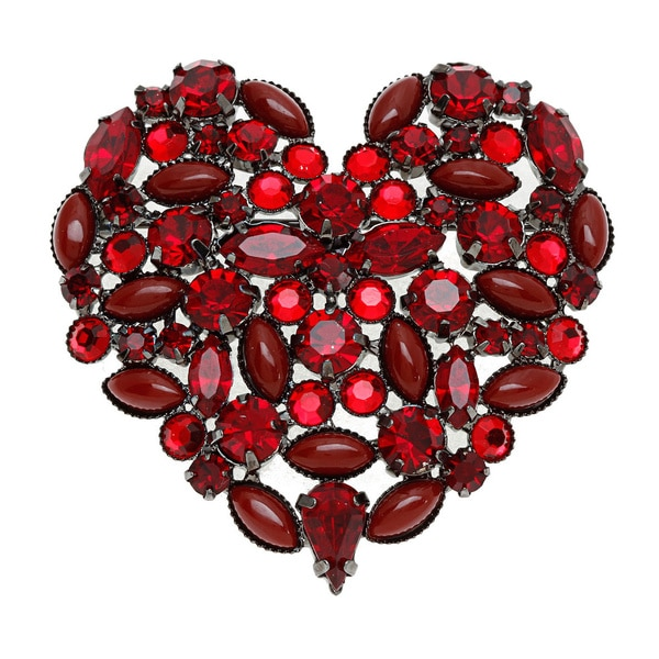 Carolee Eternal Love Large Stone Heart Pin