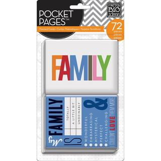 Me & My Big Ideas Pocket Pages Themed Cards 72pcs - Family