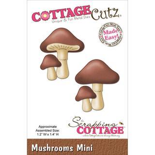 CottageCutz Mini Die 1.75 X1.75  - Mushrooms