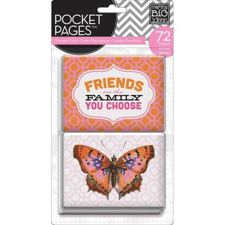 Me & My Big Ideas Pocket Pages Themed Cards 72pcs - Friends
