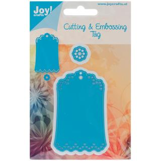 Joy! Crafts Cut & Emboss Die - Scallop Tag, 2 X3.125