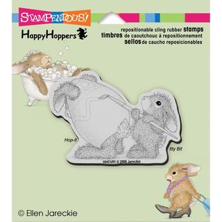 Stampendous HappyHopper Cling Rubber Stamp 3.5 X4  Sheet - Easter Bunny