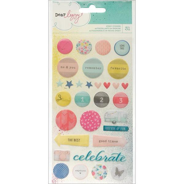 Polka Dot Party Epoxy Stickers - Accent & Phrase