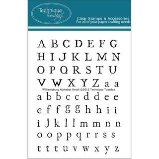 Technique Tuesday Clear Stamps 3 X4  - Williamsburg Alphabet Small