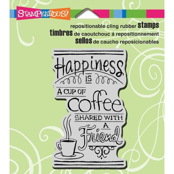 Stampendous Cling Rubber Stamp 3.5 X4 Sheet - Shared Coffee