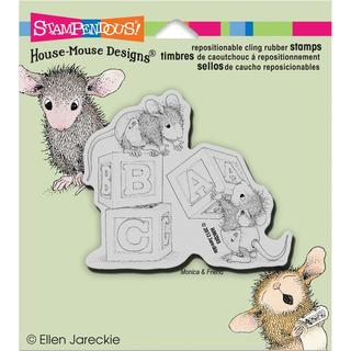 Stampendous House Mouse Cling Rubber Stamp 5.5 X4.5 Sheet - Baby Blocks