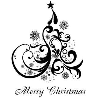 IndigoBlu Cling Mounted Stamp 7 X4.75 - Merry Christmas Tree