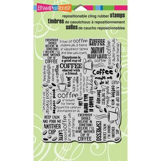 Stampendous Cling Rubber Stamp 4 X6 Sheet - Coffee Background