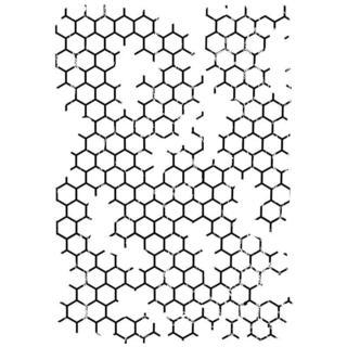 IndigoBlu Cling Mounted Stamp 7 X4.75  - Honeycomb Background