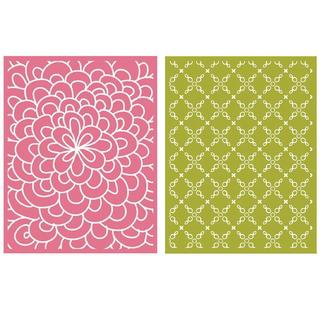 Goosebumpz A2 Embossing Folders 2/Pkg - Bloom